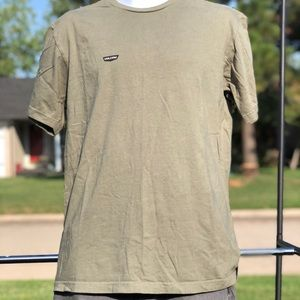 Men's army green Volcom t shirt.